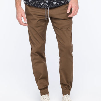 Volcom Frickin Modern Mens Jogger Pants Brown  In Sizes
