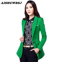 AISHGWBSJ 2017 New Spring Autumn Women Blazers Coat Lady Blazers Jackets Small suit leisure Slim Work Wear Blazers QYX204