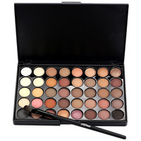 Popfeel Brand 15*10*0.9cm Cosmetic Matte Eyeshadow Cream Makeup Palette Shimmer Set 40 Color+ Brush Set A 2017 Anne