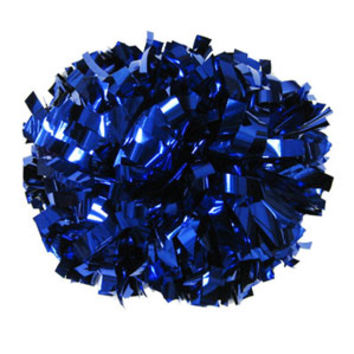 Metallic Royal Blue Baton Handle Pom