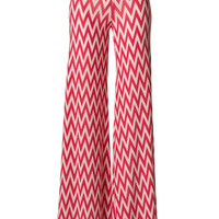Such Great Heights Chevron Palazzo Pants - Coral