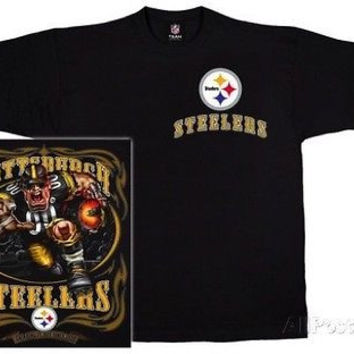 Pittsburgh Steelers NFL Team Apparel Run Back T Shirt Size 2XL