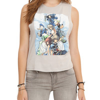 Disney Kingdom Hearts Group Girls Muscle Top