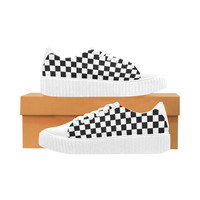 Checkered Womens Sneakers