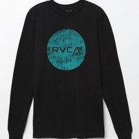 RVCA Motors Palms Long Sleeve T-Shirt - Mens Tee - Black