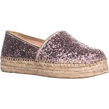 kate spade new york Linds Too Platform Espadrilles, Rose Gold Multi, 11 US