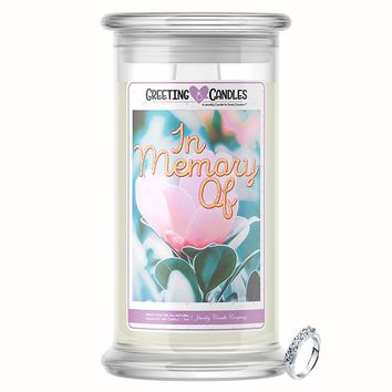 In Memory Of Jewelry Greeting Candle