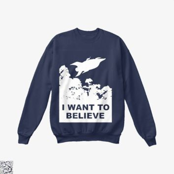 I Want To Believe Planet Express, The Simpsons Crew Neck Sweatshirt