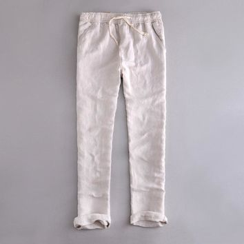 Men's Drawstring Waist Linen Pants (4 Colors)