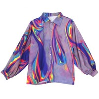 Psychedelic Button Up Blouse