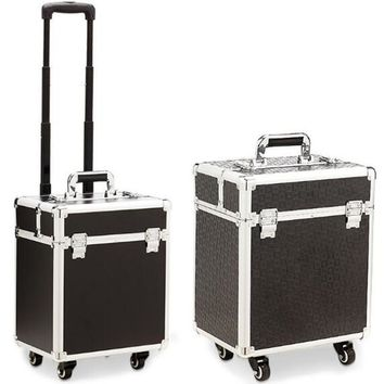 Aluminum frame 4 wheels Trolley Bag Makeup Box Beauty Case Travel professional makeup Suitcase makeup Universal Luggage XL016