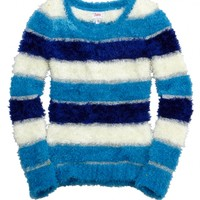 Striped Fuzzy Sweater | Girls Sweaters Clothes | Shop Justice