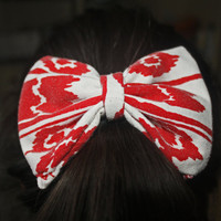 Red Tribal  Clip Bow.