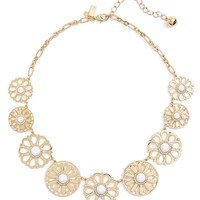 kate spade new york golden garden large frontal necklace | Nordstrom