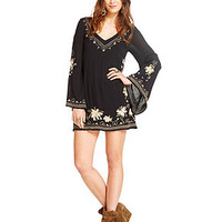 Free People Floral-Embroidered Dress