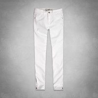 A&F Mid Rise Super Skinny Ankle Jeans