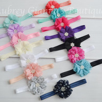 Pick 6 baby headbands, infant headbands, newborn headband, baby hair bow,  flower headband, newborn photo prop, baby accessories, bundle