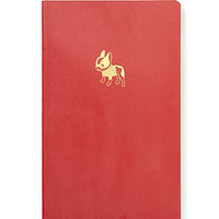FOREVER 21 Boston Terrier Notebook Red/Gold One