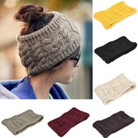 2014 women's Beanie hat skull cap ski knit Winter Warm Crochet Skullcap Hats  7_S = 1919837508