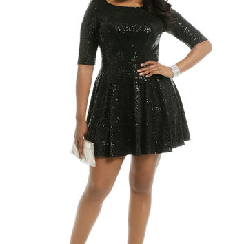Slate & Willow Quinn Glitter Dress