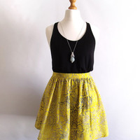 Katie Skirt in Yellow Batik Cotton