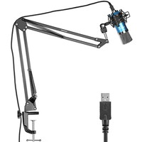 Neewer NW-7000 USB Professional Studio Condenser Microphone+NW-35 Adjustable Suspension Scissor Arm Stand with Shock Mount Kit