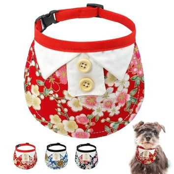 Dog Bandana Puppy Cat Collar Scarf Neckerchief Adjustable Tie Dogs Accessories For Small Medium Dogs Chihuahua Yorkshire Terrier