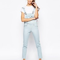 Daisy Street Dungarees in Vintage Blue Wash at asos.com