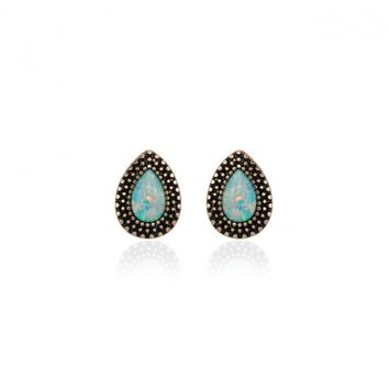 BOHEMIAN BARDOT EARRING - CRUSHED OPAL/ANTIQUE GOLD | SAMANTHA WILLS