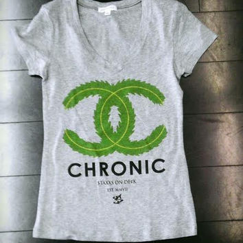 THE CHRONIC TEE ASH GREY