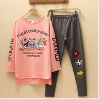 Autumn & Spring Duck Women Pajama Sets Cotton M-2XL Long Sleeve Cute Women's Sleepwear Plus Size pyjama femme pijamas mujer