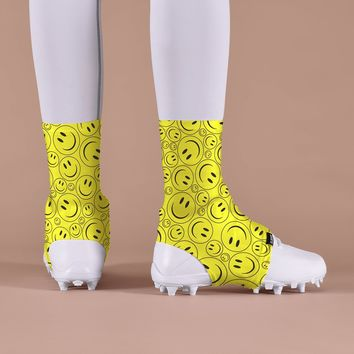 Smiley Faces Kids Spats / Cleat Covers