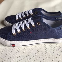 Tommy Hilfiger Fashion Canvas Flats Sneakers Sport Shoes One-nice™