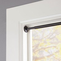 Eclipse 28 in. - 60 in. Telescoping 5/8 in. Room Darkening Tension Curtain Rod in Black-EC43000REM - The Home Depot