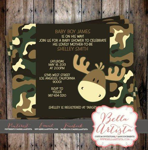 Camouflage Moose Invitations Camoflauge From Bellaartista