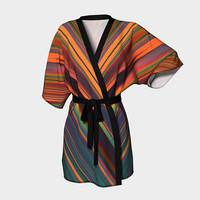 Design: Chemtrails - Kimono Robe, Robe, Bath Robe, Lounge Wear, Spa Robe, Coverup, Swim Coverup, Gift for Him/Her, Gift Idea