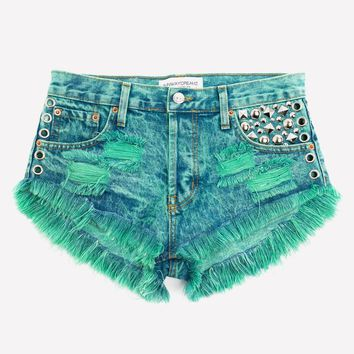 Stellar Neverland Studded Babe Shorts