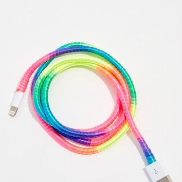 Rainbow Cord USB Phone Charger
