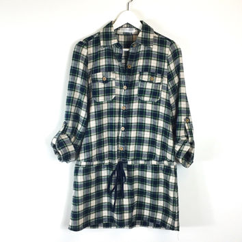 Kadia Plaid Flannel Top