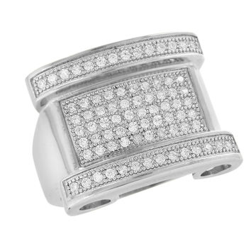 Mens Wedding Ring Stainless Steel Simulated Diamonds Engagement Party Wear New