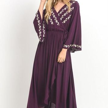 Rising Strong Embroidered Maxi Dress