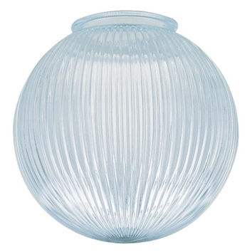 4-Inch Clear Prismatic Glass Globe, 6-Pack