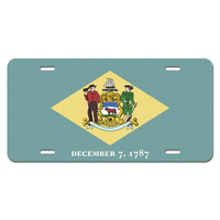 Delaware State Flag Novelty License Plate