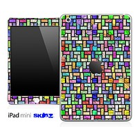 Abstract Color Tiled Pattern Skin for the iPad Mini or Other iPad Versions