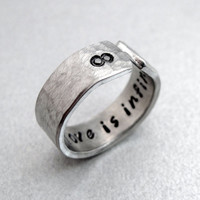 Custom Mother's Day Gift - Mothers Love is Infinite - Secret Message Ring