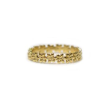 9kt Gold Flower Child Gold Ring
