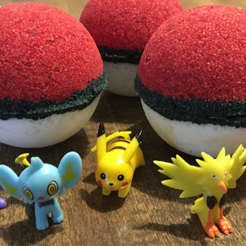 Pokeball Bath Bomb, Pokemon Bath Bomb, Surprise Bath Bomb, Bath Bomb Gift, Citrus Bath Bomb