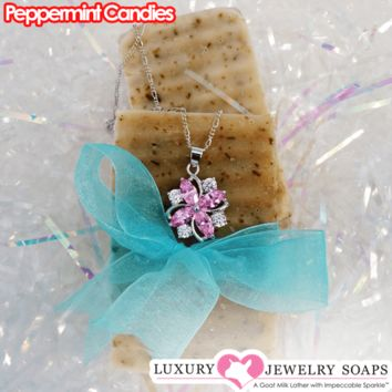 Peppermint Candies Luxury Jewelry Soaps