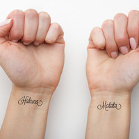 Calm  - Temporary Tattoo (Set of 2)