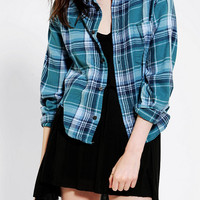 Urban Outfitters - Urban Renewal Zip-Back Flannel Shirt